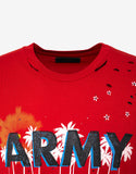 Red Vintage Army T-Shirt
