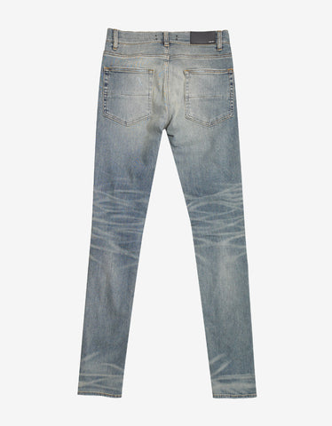Amiri Thrasher Blue Distressed Jeans
