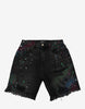 Vintage Black Thrasher Graffiti Shorts
