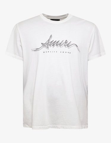 Amiri White Corded Amiri T-Shirt