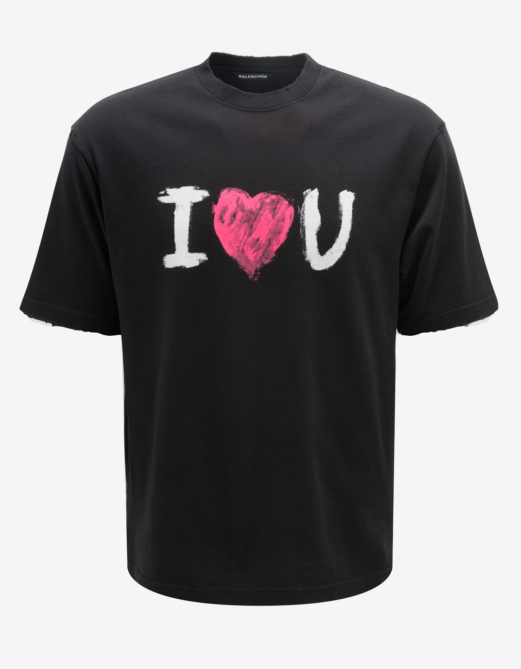 Black I love U Medium Fit T-Shirt
