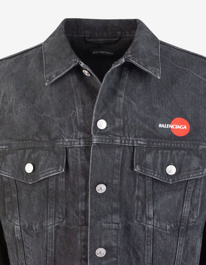 Black Uniform Denim Jacket