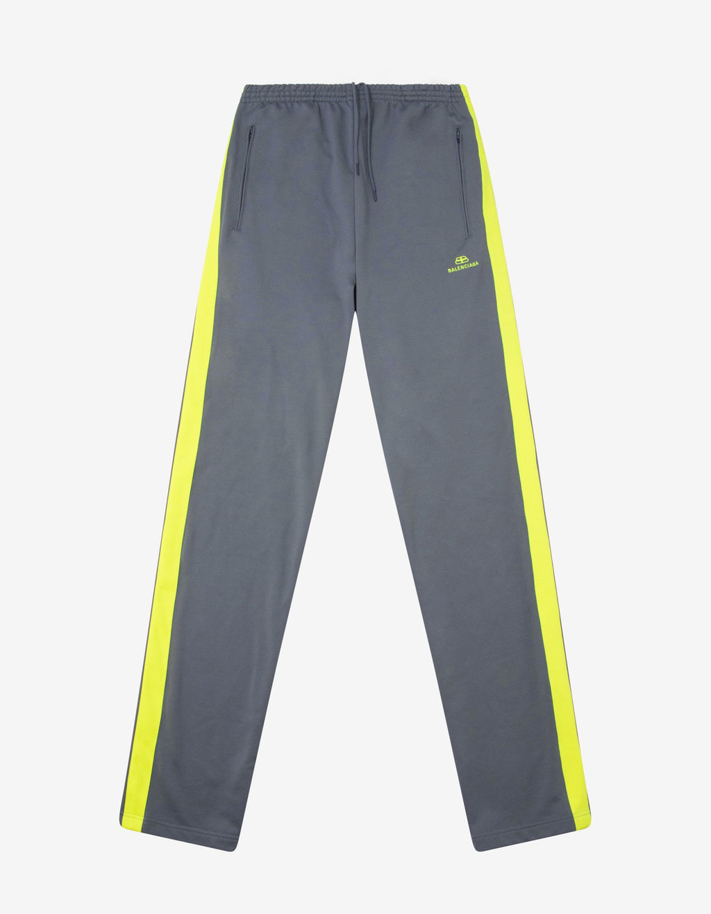 Grey Track Pants with Yellow Stripes -