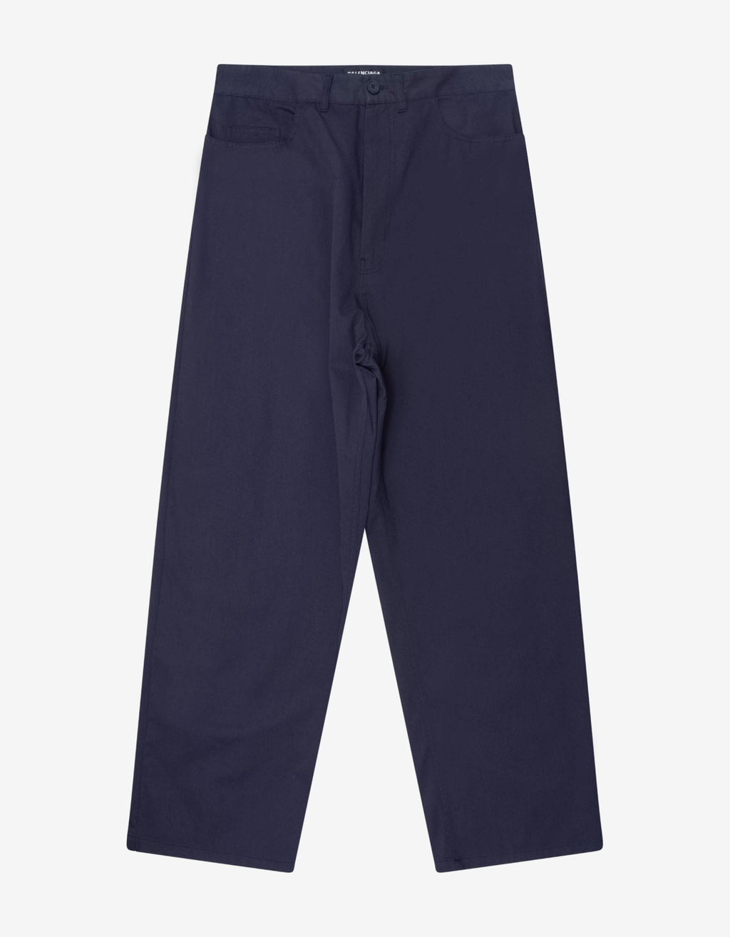 Navy Blue Baggy Chino Trousers -