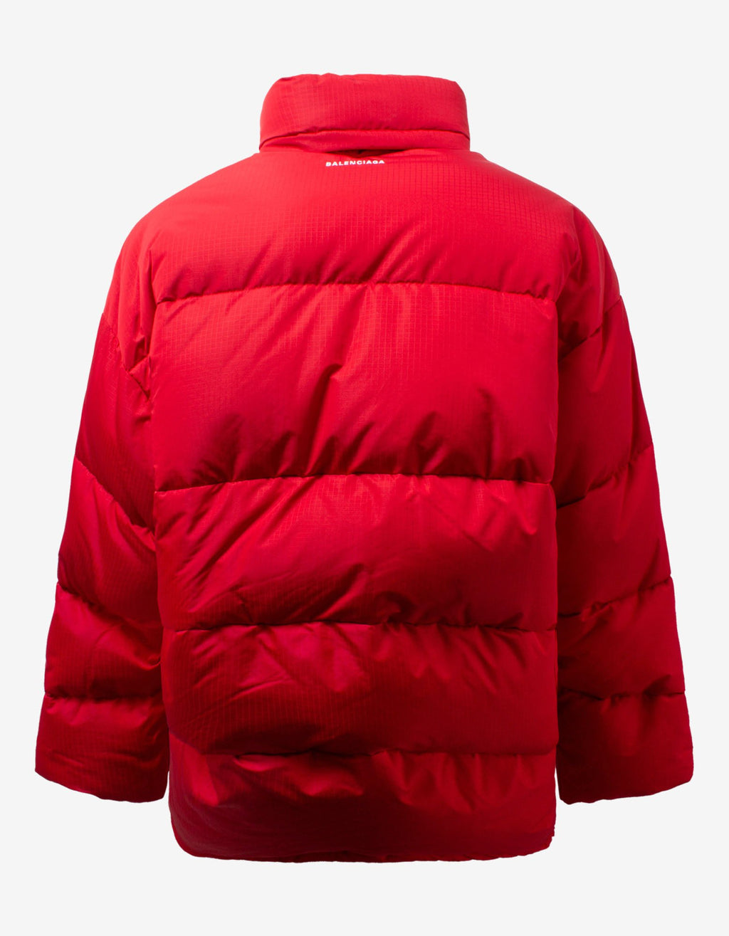 Red C Shape Puffer Jacket -