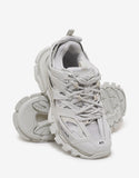 All-White Track Trainers