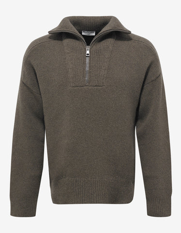 Balenciaga Beige Funnel Neck Sweater