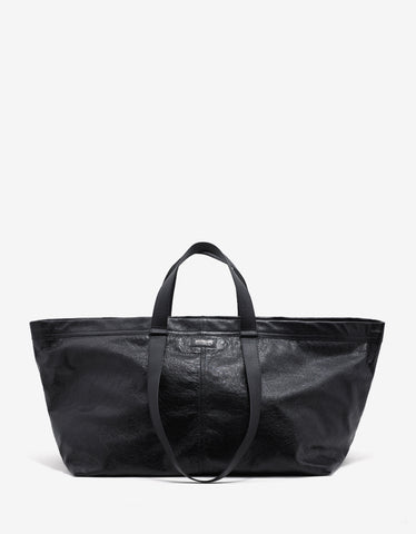 Balenciaga Black Arena Leather Carry Shopper Bag
