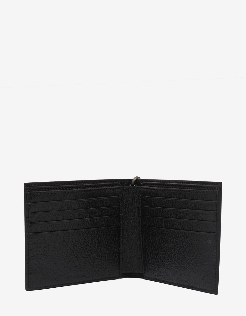 Black Graffiti Chain Leather Billfold Wallet