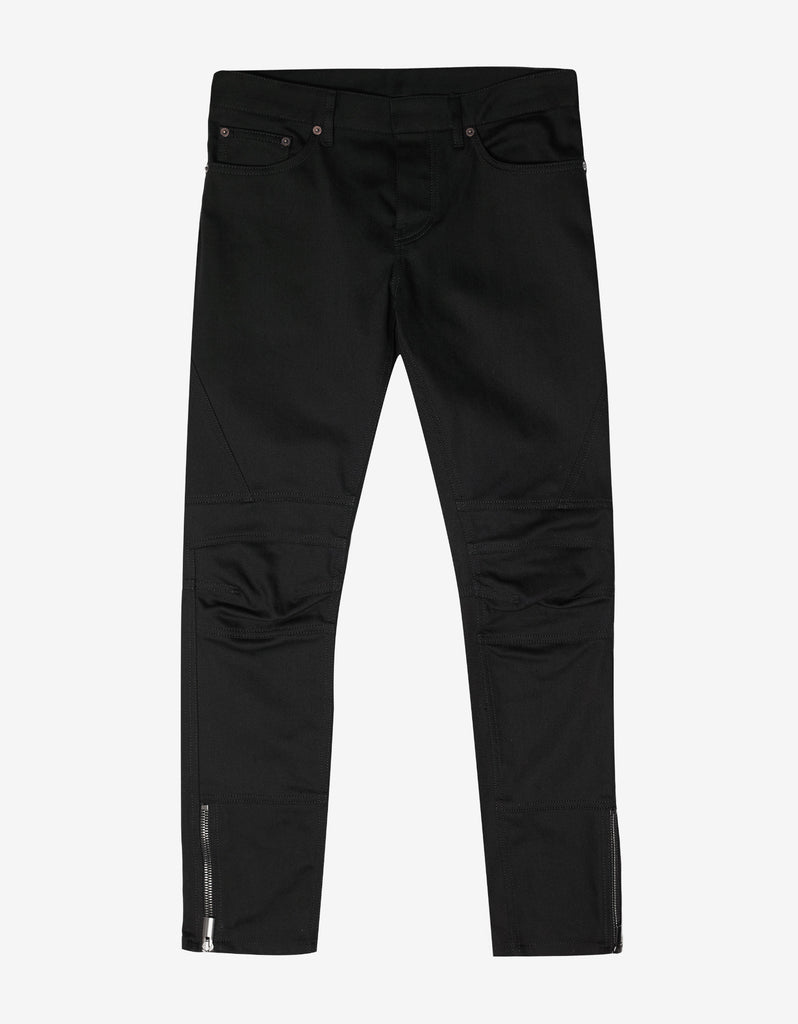 Black Motorcycle Skinny Jeans