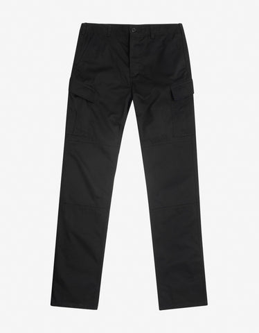 Black Wool Logo Tape Trousers