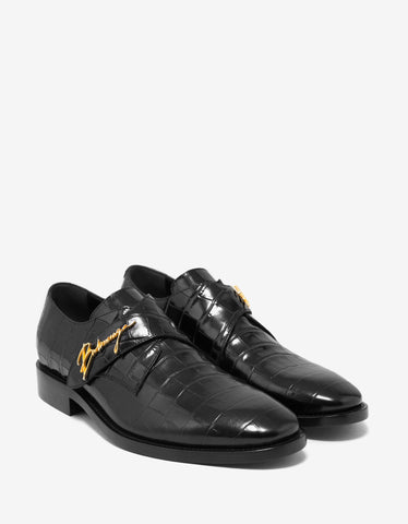 Balenciaga Black City Evening Monk Strap Shoes