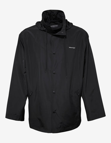 Balenciaga Black Copyright Logo Raincoat