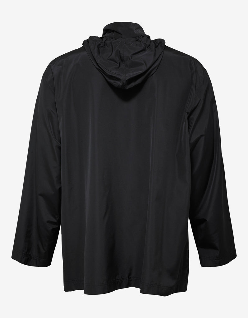 Black Copyright Logo Raincoat
