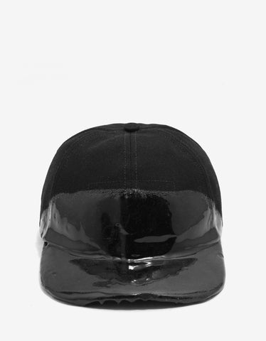 Balenciaga Black Cap with Coated Panel