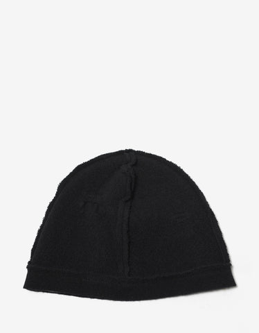 Balenciaga Black Distressed Beanie Hat