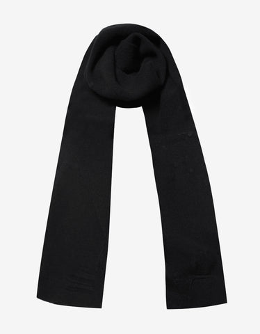 Balenciaga Black Distressed Scarf