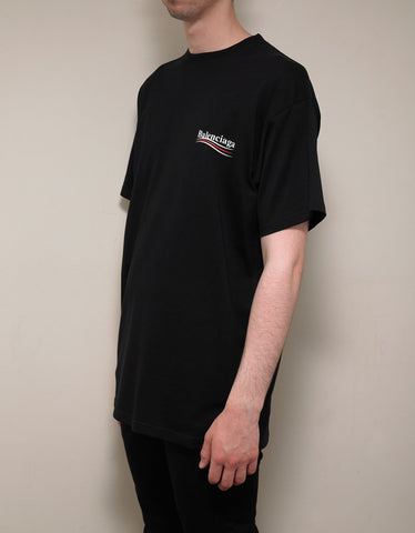 Balenciaga Black Election Logo T-Shirt