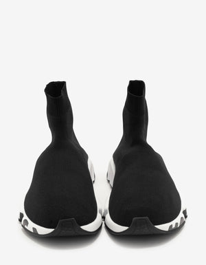 Black Graffiti Logo Sole Speed Trainers