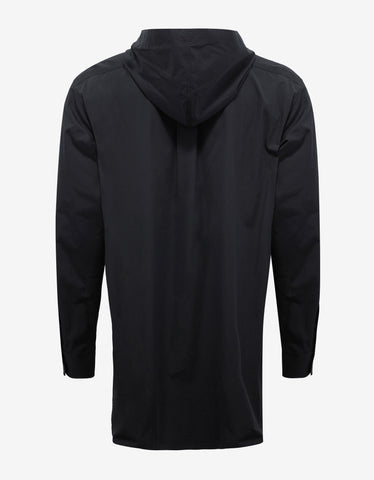 Balenciaga Black Hooded Shirt