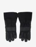 Black Leather & Wool Gloves