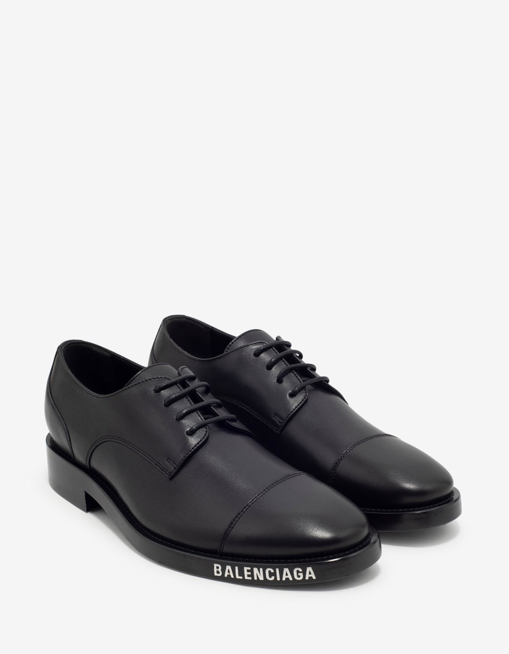 Black Logo Derby Shoes -