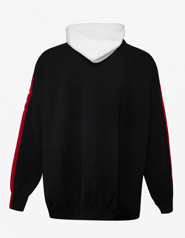 Balenciaga Black Oversized Sweater with Jersey Hood