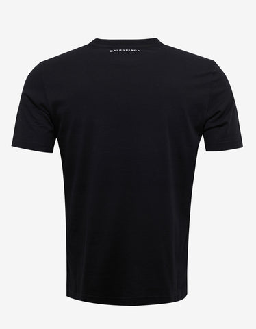 Balenciaga Black Paris Print T-Shirt