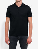 Black Pique Polo T-Shirt
