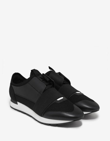 Balenciaga Black Race Runners