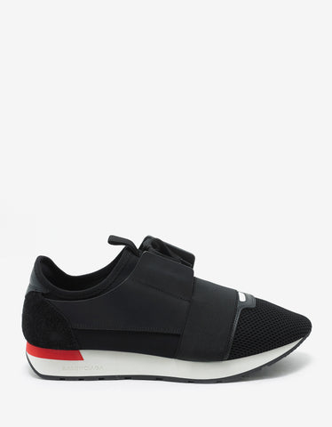 Balenciaga Black Panelled Race Runners