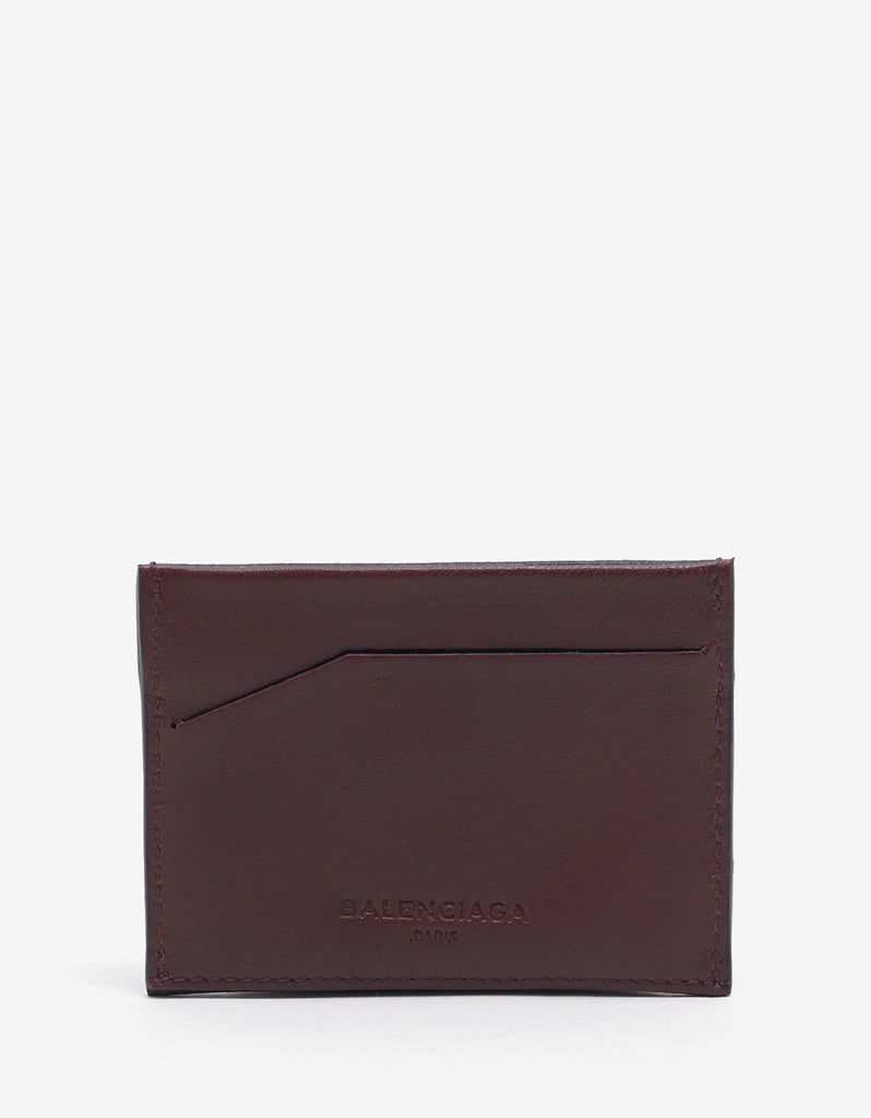 Black 'B' Badge Grain Leather Card Holder