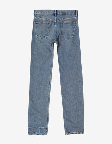Balenciaga Blue Distressed Denim Jeans