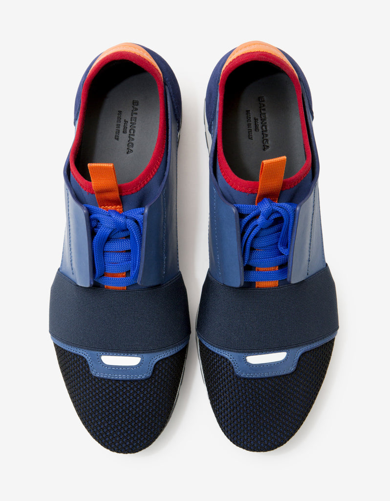 Blue Panelled Race Runners