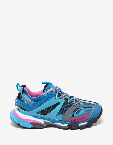 Balenciaga Blue & Pink Track Trainers