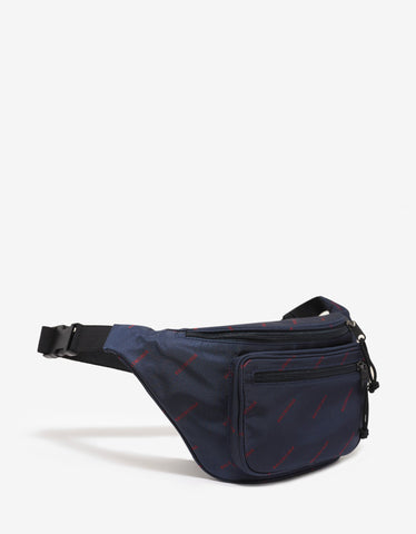 Balenciaga Blue All-Over Logo Waist Bag