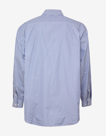 Balenciaga Blue Stripe Big Fit Shirt