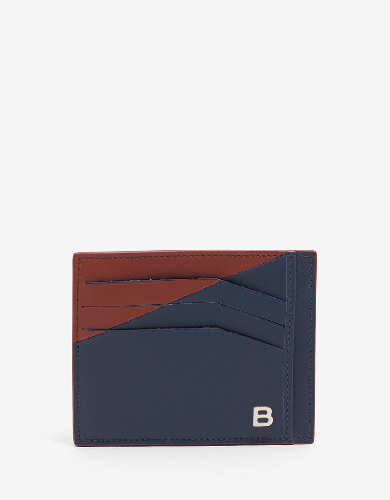 Blue & Red Leather Card Holder