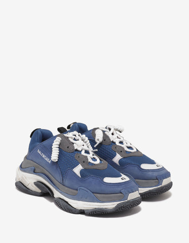 Balenciaga Triple S Blue, Grey, White Trainers