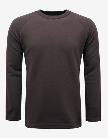 Balenciaga Brown Shrunk Crew Neck Sweatshirt