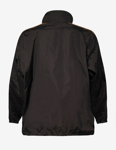 Balenciaga Brown Logo Zip Track Jacket
