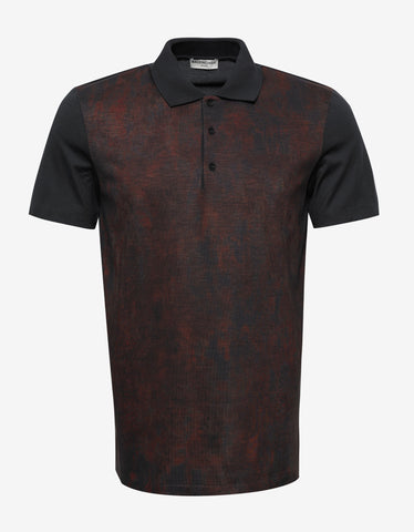 Balenciaga Brown Marl Front Polo T-Shirt
