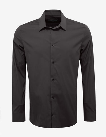 Balenciaga Brown Stretch Cotton Slim Fit Shirt