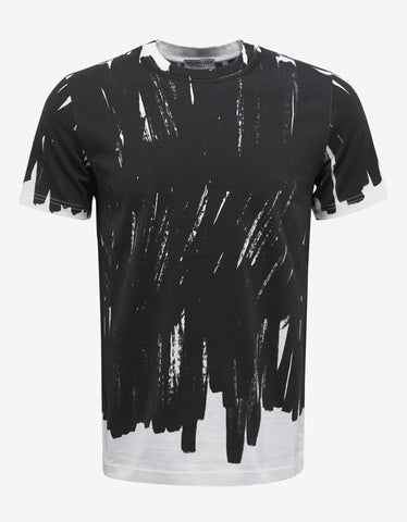 Brushstroke Graphic Print T-Shirt