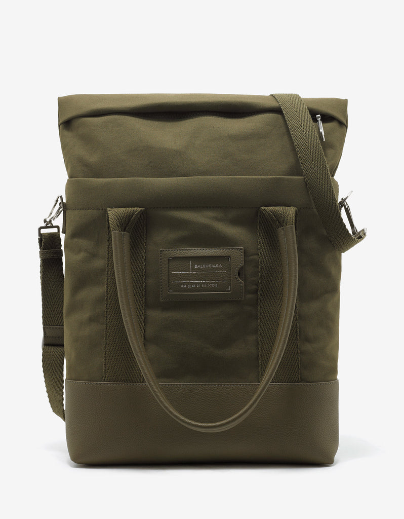 Khaki Canvas Surplus Tote Bag