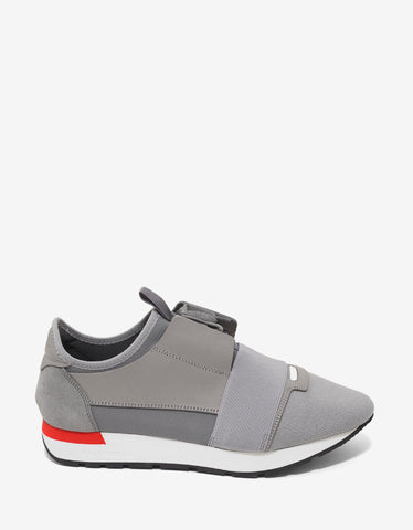 Balenciaga Grey Panelled Race Runners