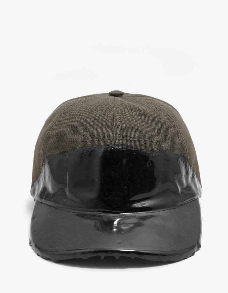 Khaki Cap with Coated Panel