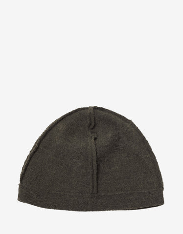 Balenciaga Khaki Distressed Beanie Hat
