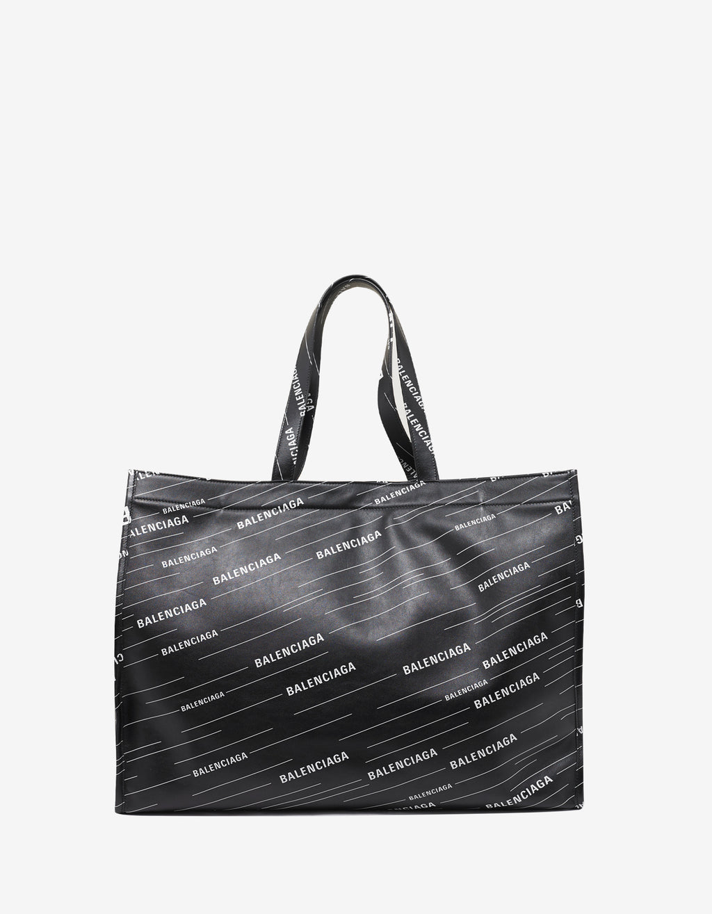 Black All-Over Logo Shopper Bag