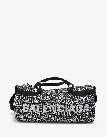 Balenciaga Logo Wave Wheel Gym Bag